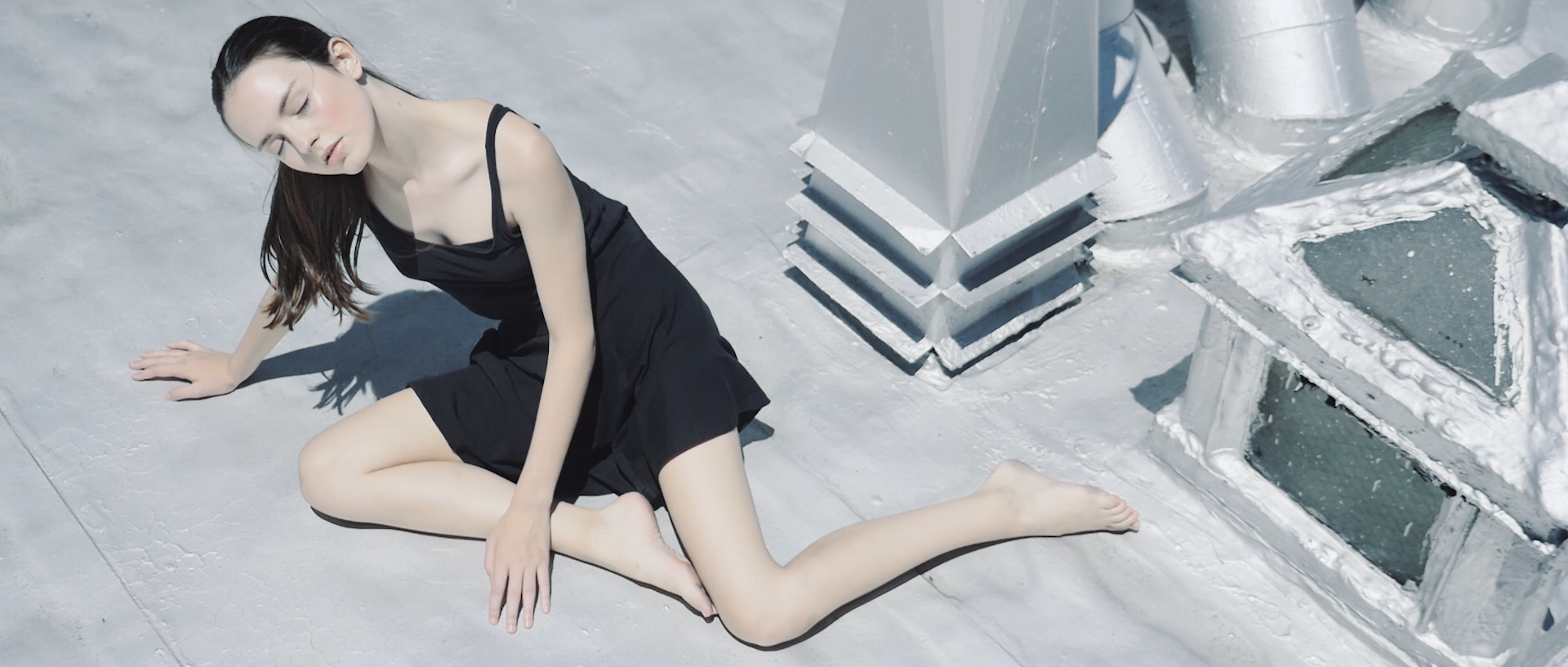 Fashion film with model Kalyn on Rooftop NY summer 2016 shot by FX Boucherak philocalie films